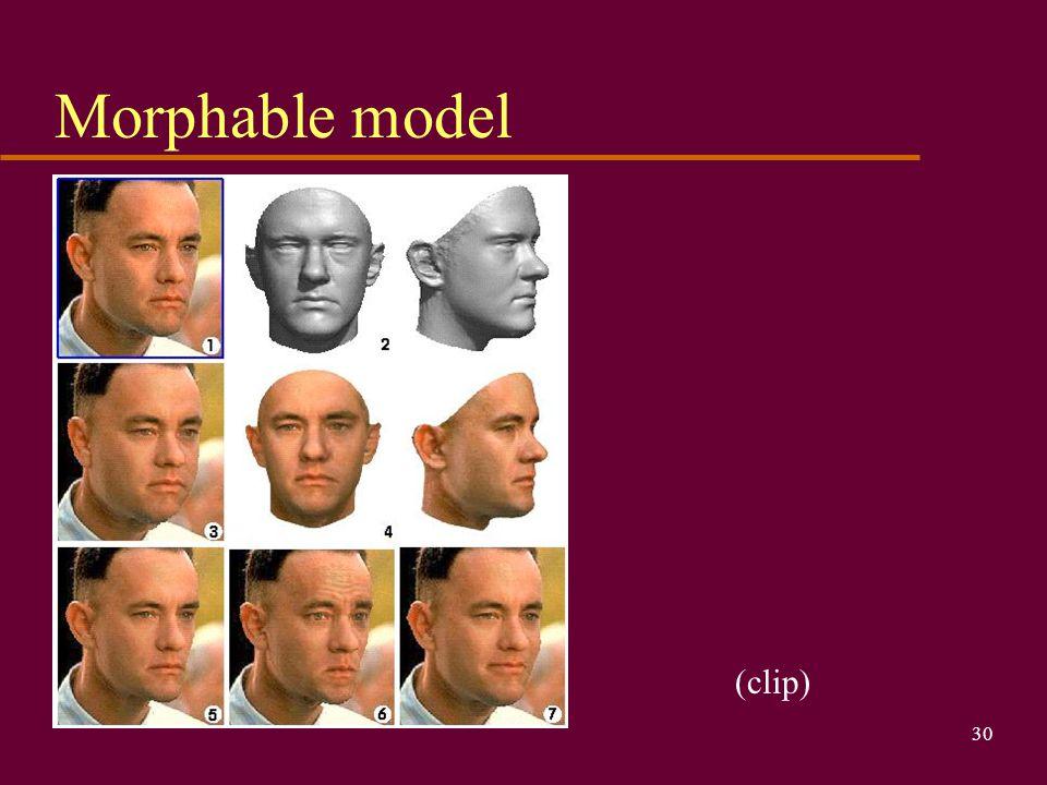Morphable model (clip)