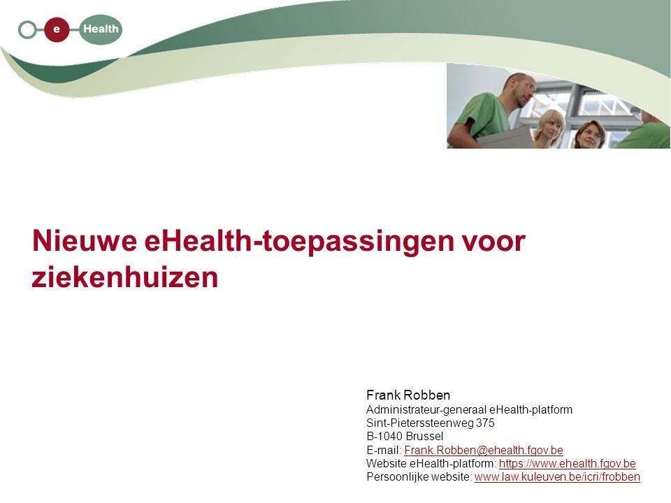 Nieuwe eHealth-toepassingen voor ziekenhuizen