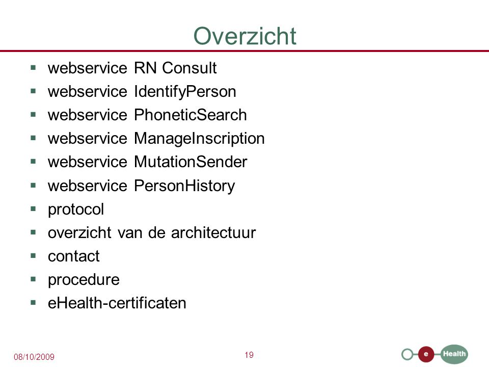 Overzicht webservice RN Consult webservice IdentifyPerson