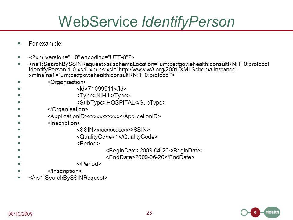 WebService IdentifyPerson