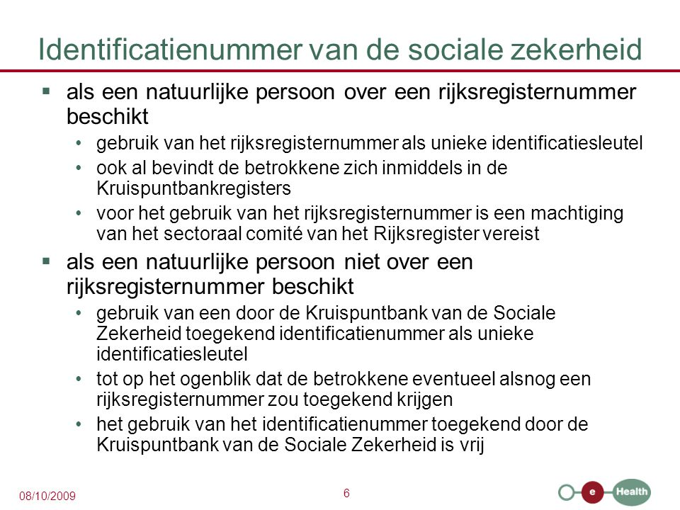 Identificatienummer van de sociale zekerheid