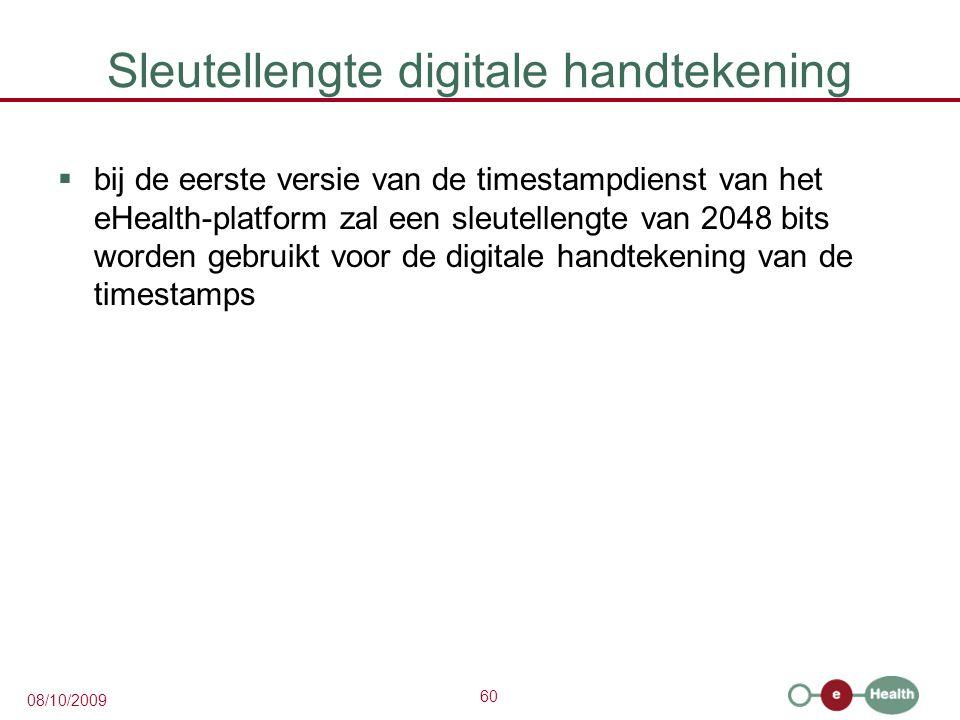 Sleutellengte digitale handtekening