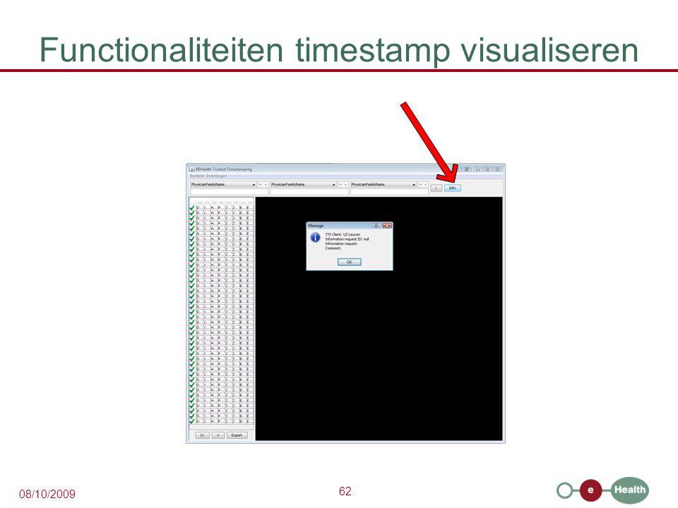 Functionaliteiten timestamp visualiseren