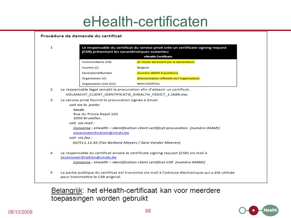 eHealth-certificaten