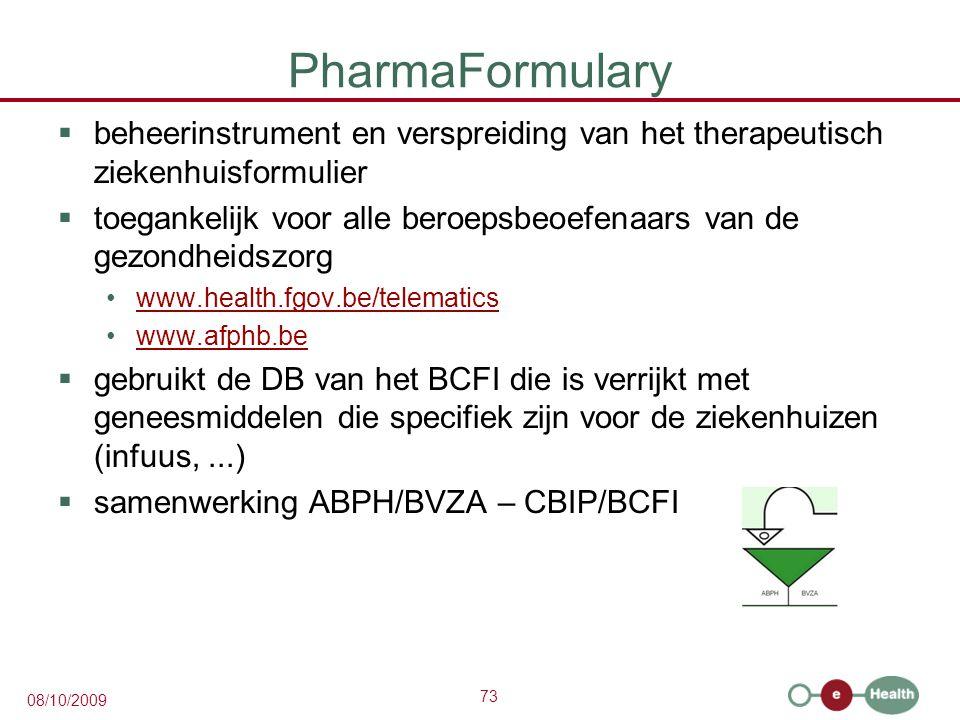 PharmaFormulary beheerinstrument en verspreiding van het therapeutisch ziekenhuisformulier.