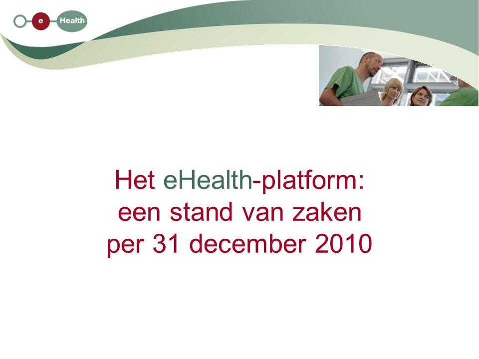 Het eHealth-platform: een stand van zaken per 31 december 2010