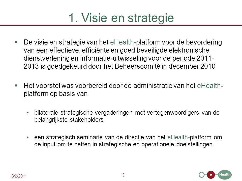 1. Visie en strategie