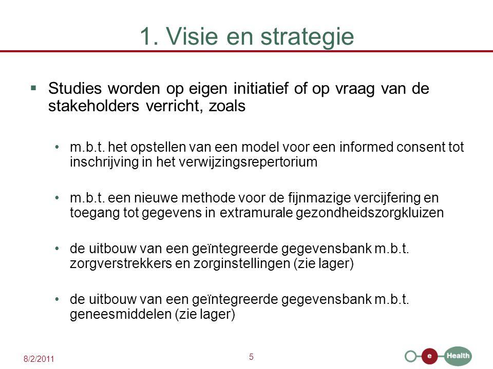 1. Visie en strategie Studies worden op eigen initiatief of op vraag van de stakeholders verricht, zoals.