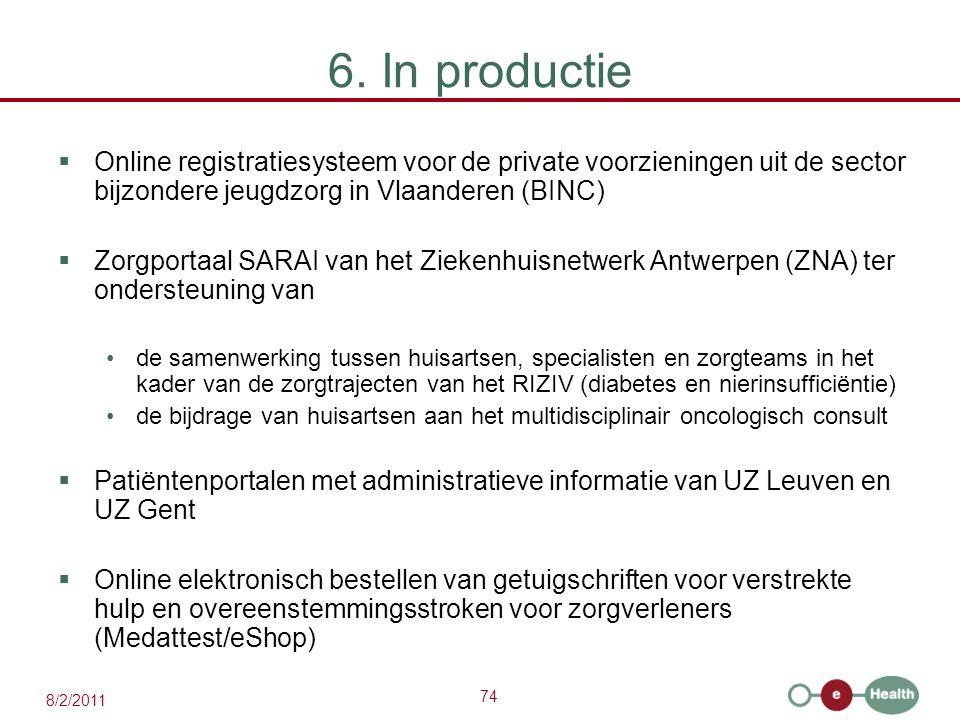 6. In productie Online registratiesysteem voor de private voorzieningen uit de sector bijzondere jeugdzorg in Vlaanderen (BINC)