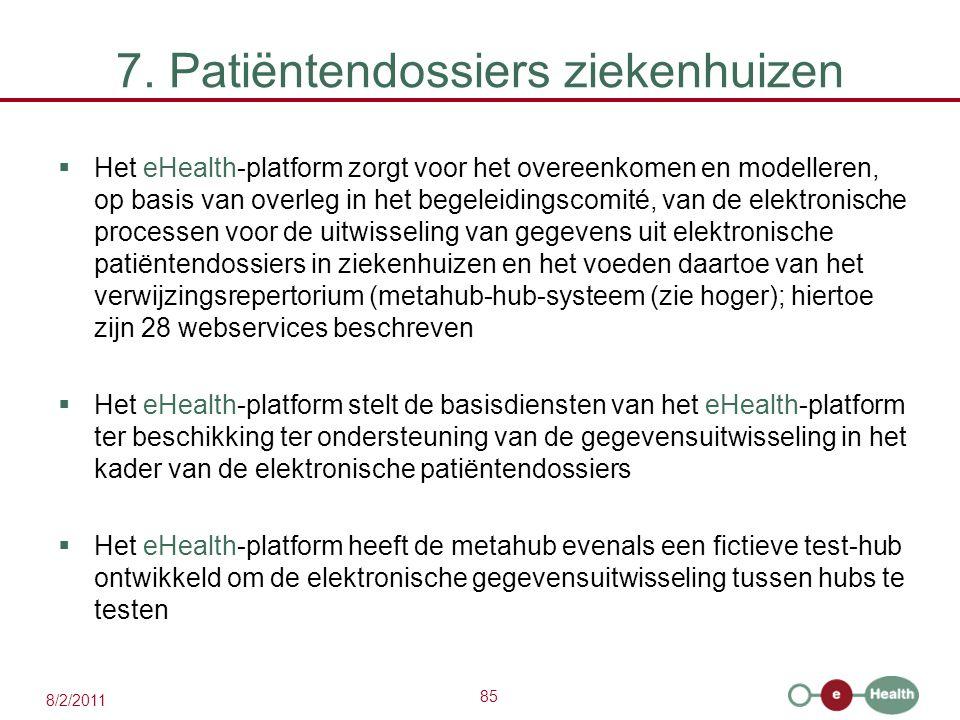 7. Patiëntendossiers ziekenhuizen