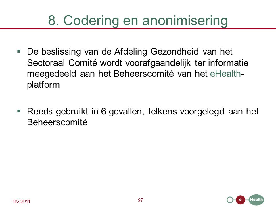 8. Codering en anonimisering