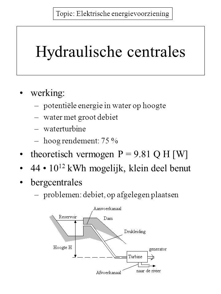 Hydraulische centrales