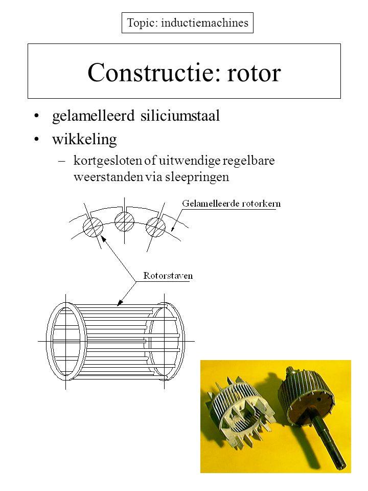 Constructie: rotor gelamelleerd siliciumstaal wikkeling