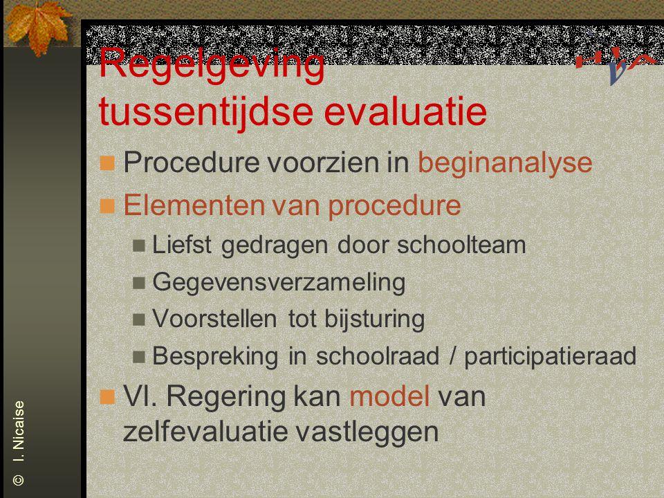 Regelgeving tussentijdse evaluatie