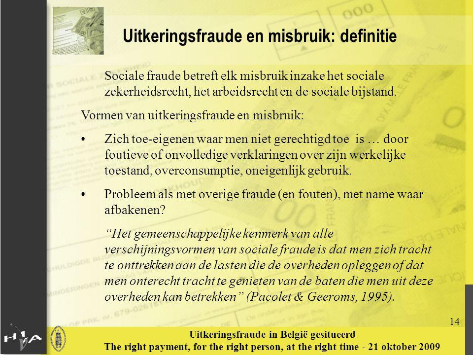 Uitkeringsfraude en misbruik: definitie