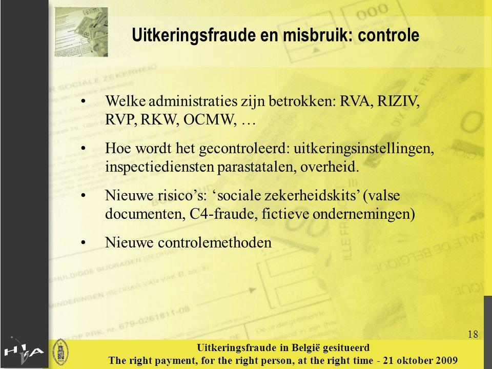 Uitkeringsfraude en misbruik: controle