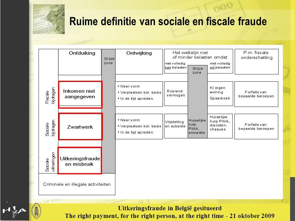 Ruime definitie van sociale en fiscale fraude