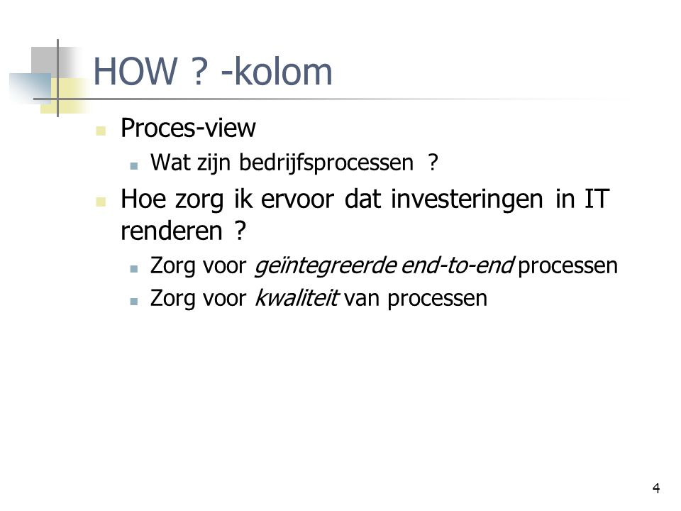HOW -kolom Proces-view