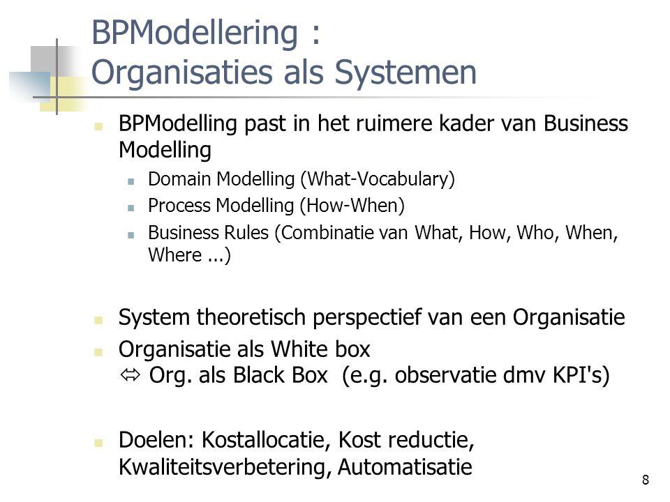 BPModellering : Organisaties als Systemen