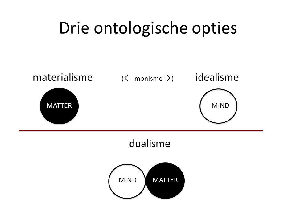 Drie ontologische opties