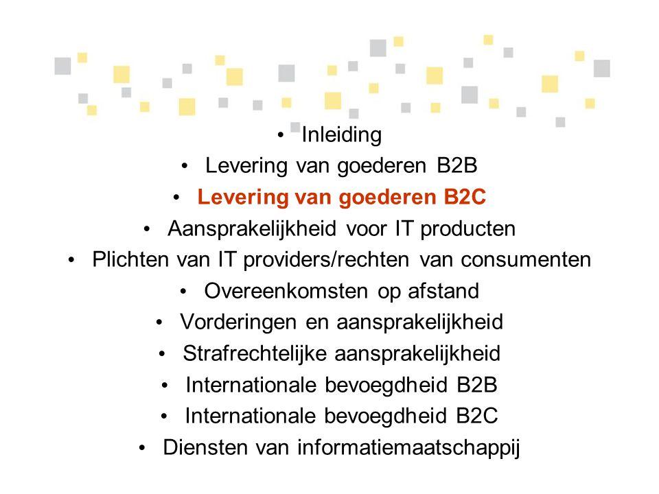 Levering van goederen B2C