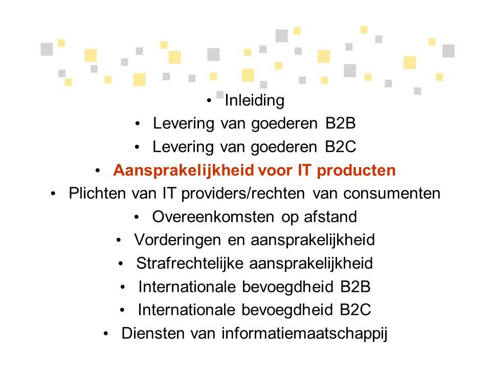 Aansprakelijkheid voor IT producten