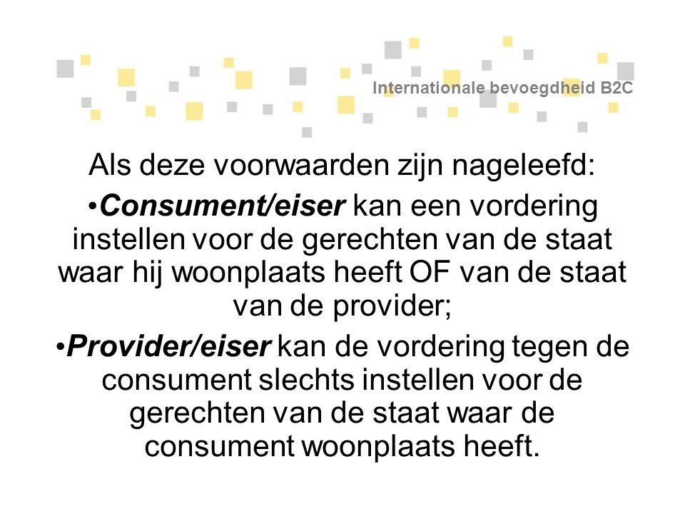 Internationale bevoegdheid B2C