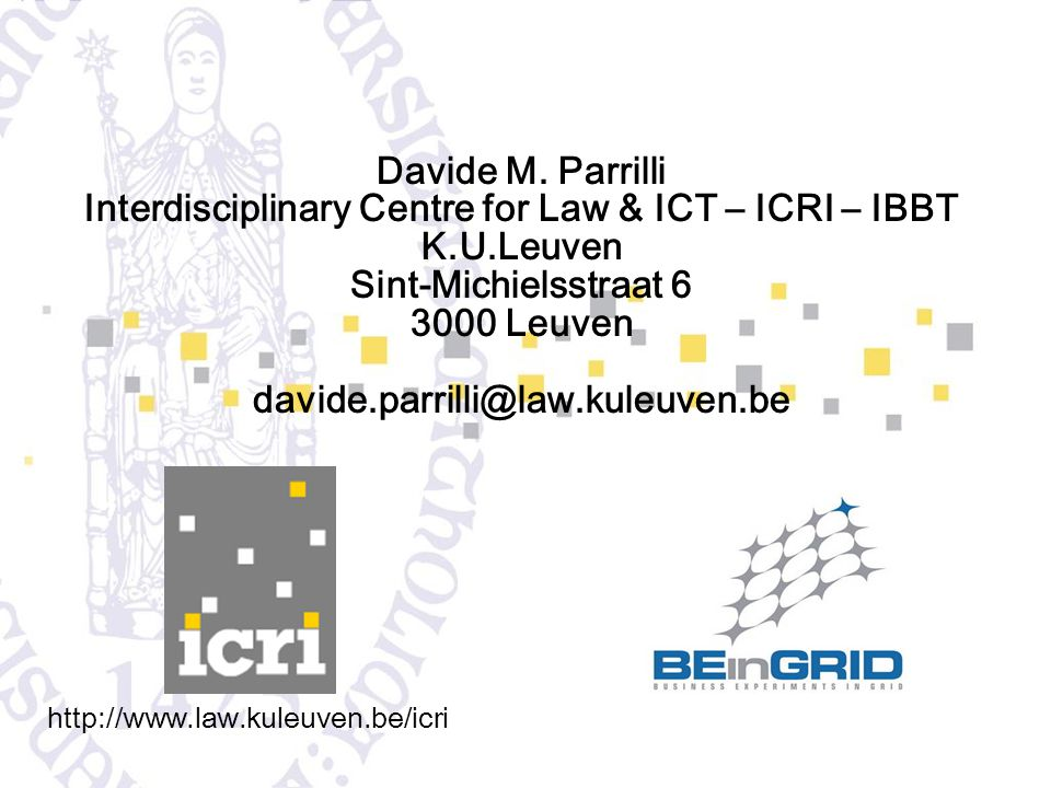 Interdisciplinary Centre for Law & ICT – ICRI – IBBT