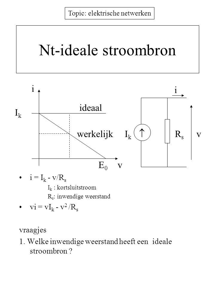 Nt-ideale stroombron i i ideaal Ik werkelijk Ik  Rs v E0 v