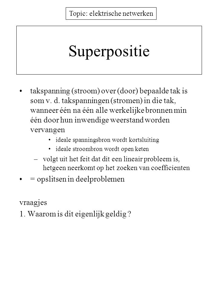 Superpositie