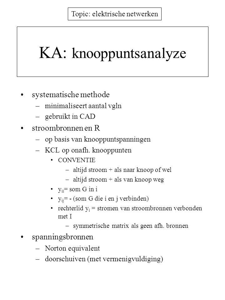KA: knooppuntsanalyze