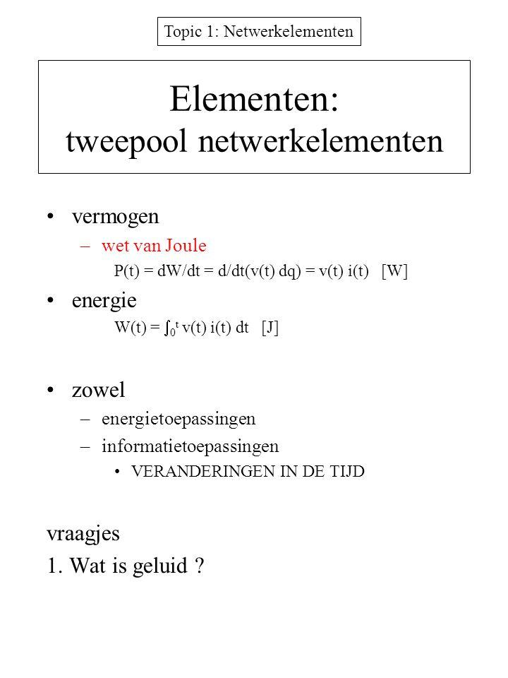Elementen: tweepool netwerkelementen