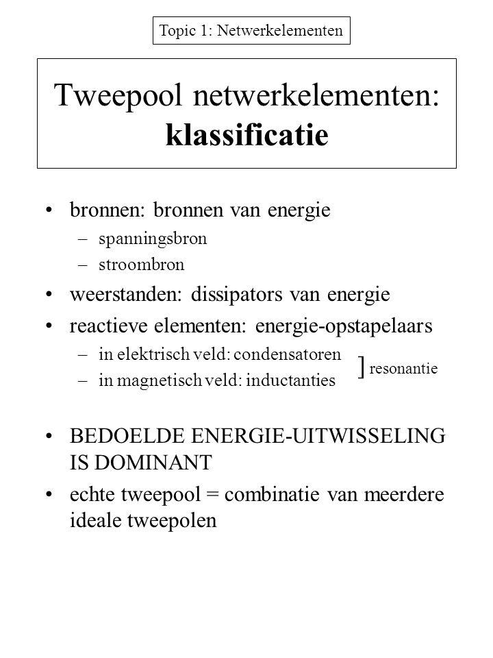 Tweepool netwerkelementen: klassificatie