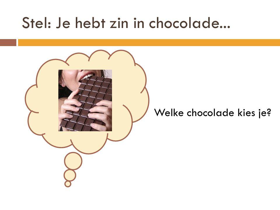 Stel: Je hebt zin in chocolade...
