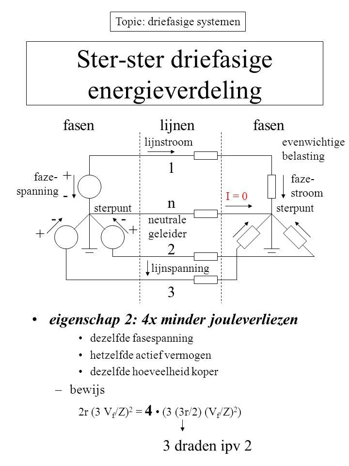 Ster-ster driefasige energieverdeling