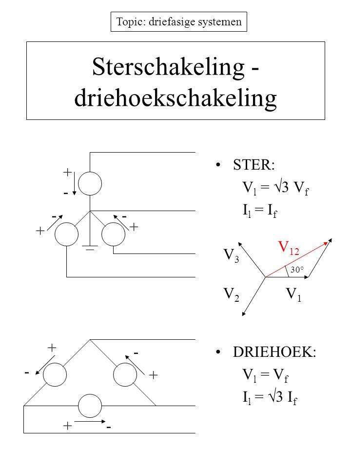 Sterschakeling - driehoekschakeling
