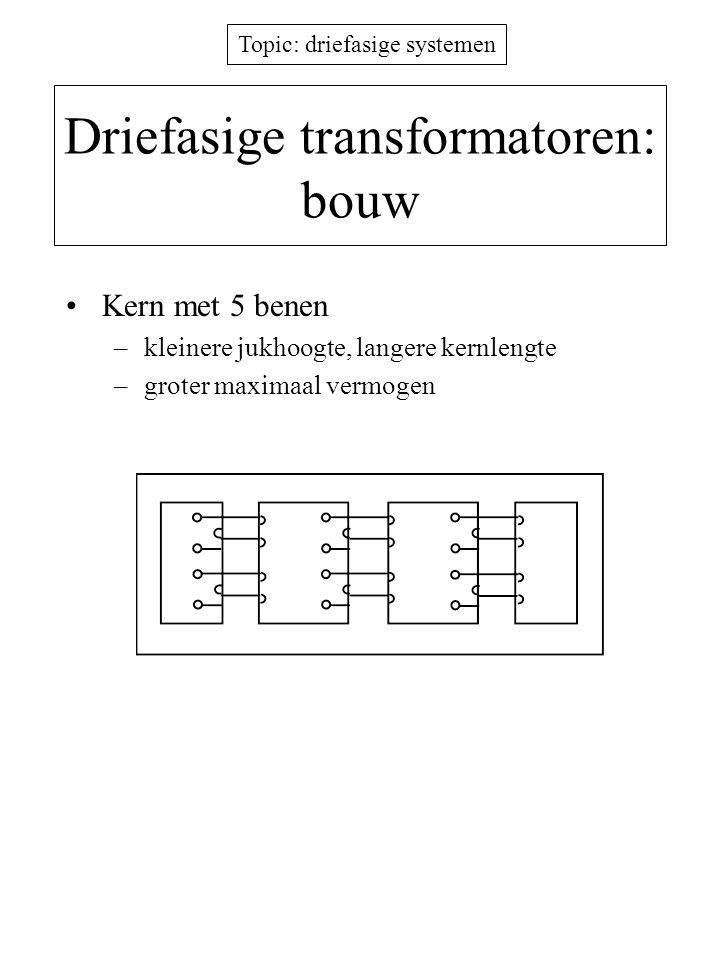 Driefasige transformatoren: bouw