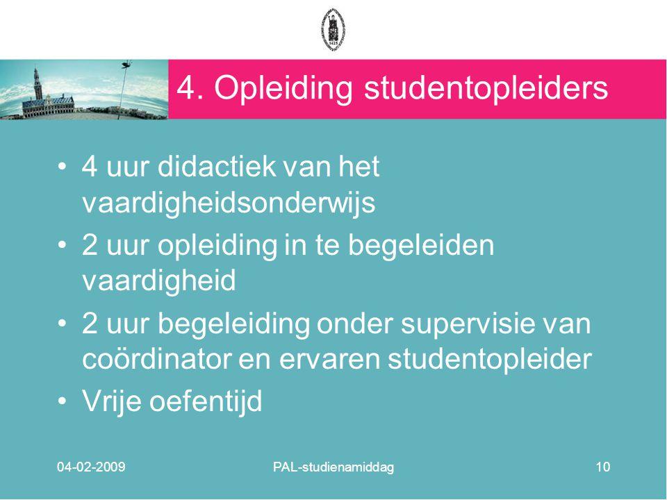 4. Opleiding studentopleiders