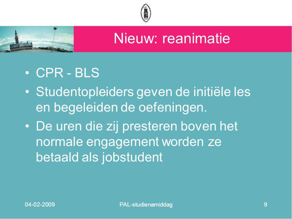 Nieuw: reanimatie CPR - BLS