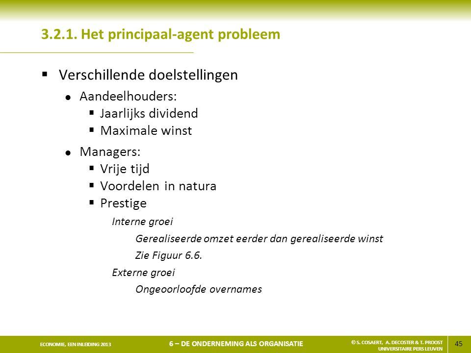 3.2.1. Het principaal-agent probleem