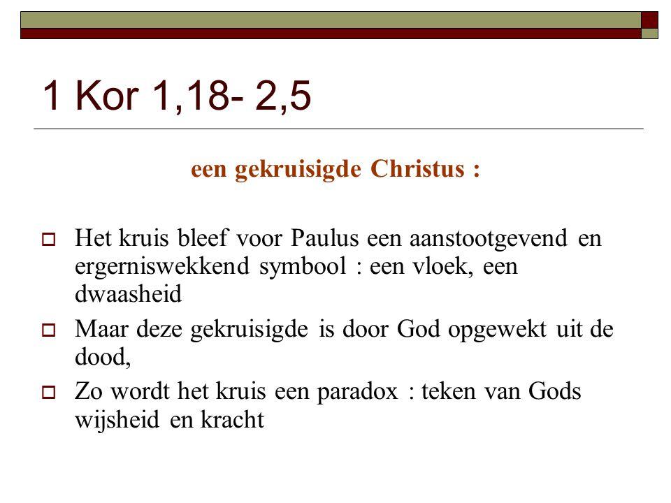 een gekruisigde Christus :