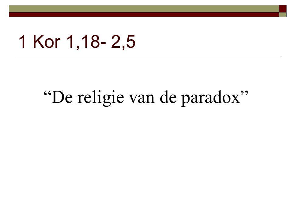 De religie van de paradox