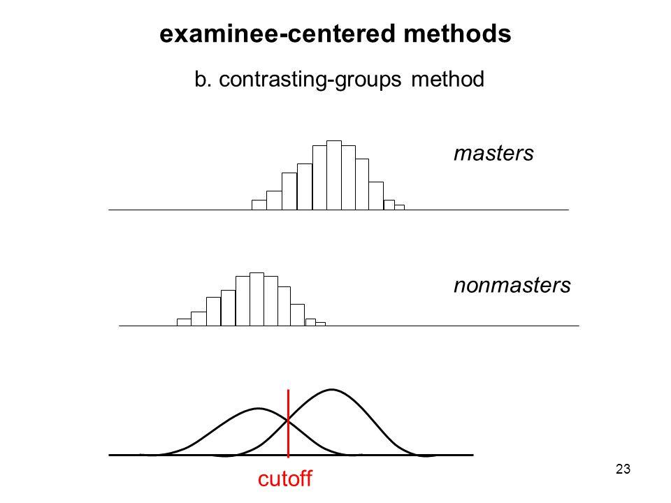 examinee-centered methods