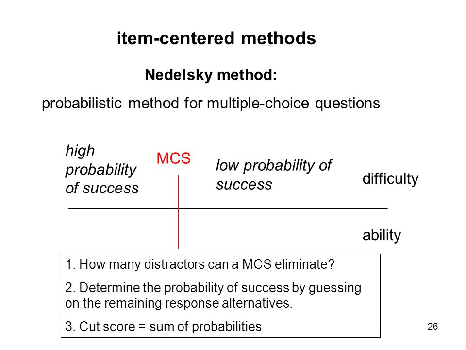 probabilistic method for multiple-choice questions