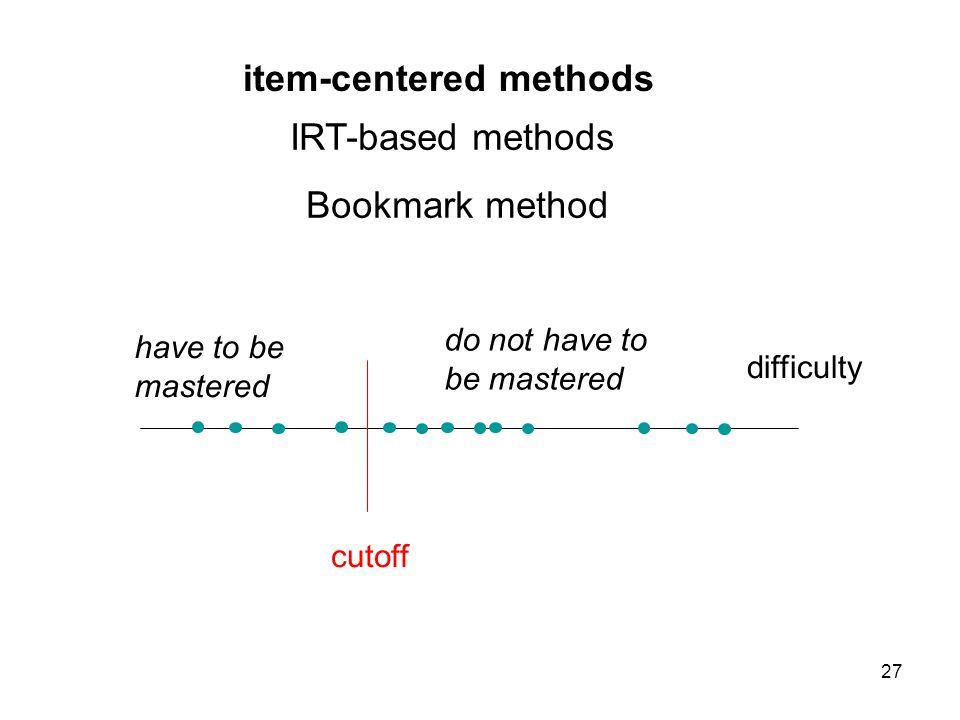 item-centered methods