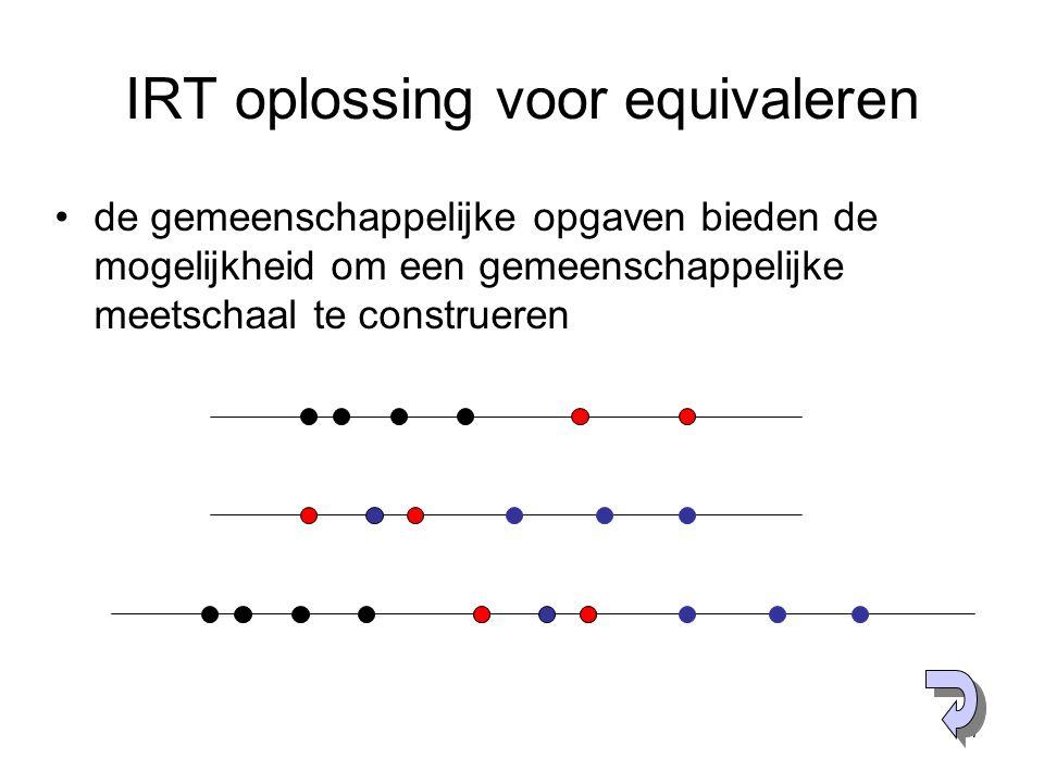 IRT oplossing voor equivaleren