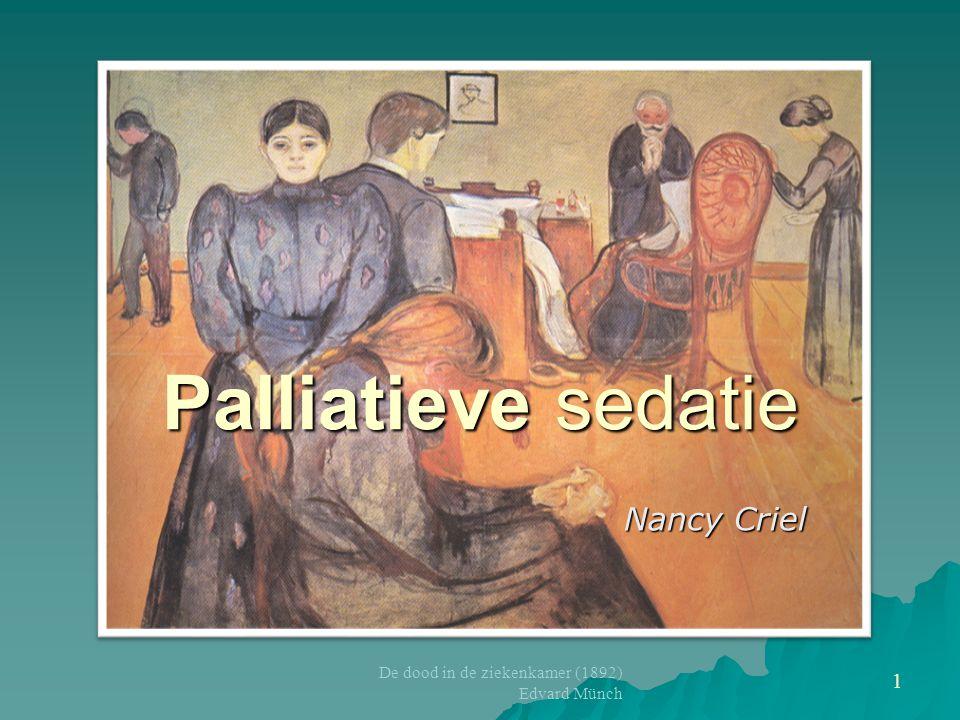 Palliatieve sedatie Nancy Criel De dood in de ziekenkamer (1892)