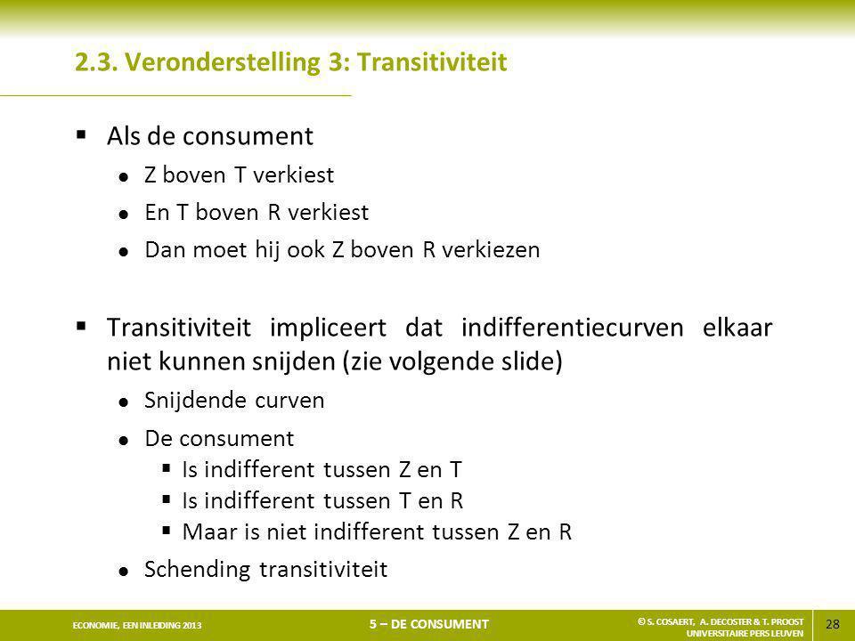 2.3. Veronderstelling 3: Transitiviteit