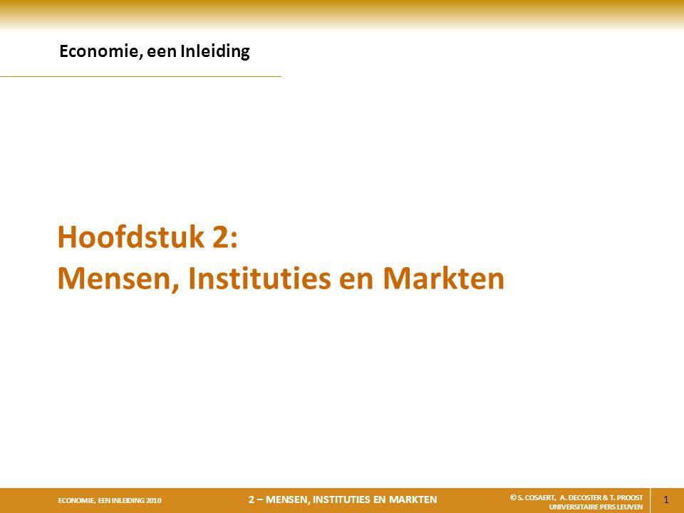 Hoofdstuk 2: Mensen, Instituties en Markten