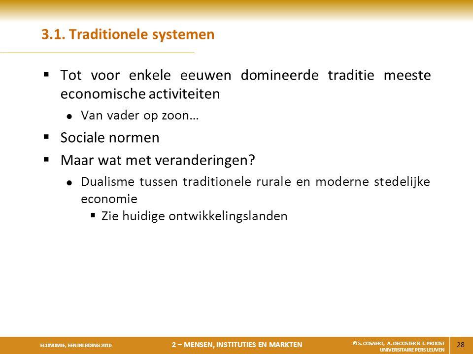3.1. Traditionele systemen